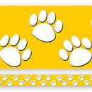 Teacher Created Resources TCR4621 Gold With White Paw Prints Straight Border Trim