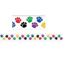 Teacher Created Resources TCR4641 Colorful Paw Prints Border Trim
