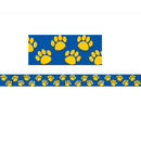 Teacher Created Resources TCR4643 Blue With Gold Paw Prints Border Trim