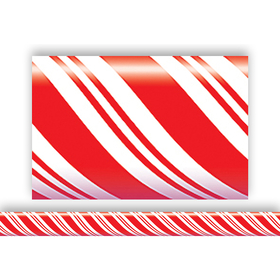 Teacher Created Resources TCR4667 Candy Cane Straight Border Trim, Price/EA