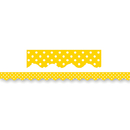 Teacher Created Resources TCR4668 Yellow Mini Polka Dots Border Trim