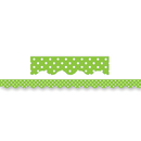 Teacher Created Resources TCR4669 Lime Mini Polka Dots Border Trim