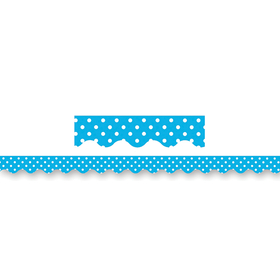 Teacher Created Resources TCR4670 Aqua Mini Polka Dots Border Trim, Price/EA