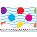 Teacher Created Resources TCR4674 Multicolor Polka Dots Border Trim