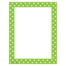 Teacher Created Resources TCR4765 Lime Polka Dots Computer Paper
