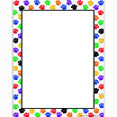 Teacher Created Resources TCR4769 Colorful Paw Prints Computer Paper