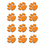 Teacher Created Resources TCR5122 Orange Paw Prints Mini Accents