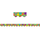 Teacher Created Resources TCR5366 Lime Colorful Circles Scalloped - Border Trim