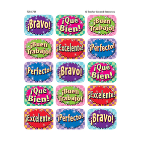 Teacher Created Resources TCR5734 Good Work Spanish 90 Jumbo Stickers, Price/EA