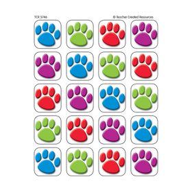 Teacher Created Resources TCR5746 Colorful Paw Prints 120 Stickers, Price/EA