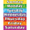 Teacher Created Resources TCR7608 Days Of The Week Chart
