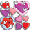 Teachers Friend TF-3264 Accent Punch-Outs Valentines/Hearts