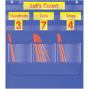 Teachers Friend TF-5105 Counting Caddie And Place Value Pocket Chart Gr K-3