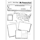 Lorenz / Milliken TL-10062 Poster Papers My Favorite 30/Pk State 2-Sided 22 X 17 Gr 3 & Up