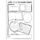 Lorenz / Milliken TL-10063 Poster Papers My Favorite 30/Pk Country 2-Sided 22 X 17 Gr 4 & Up