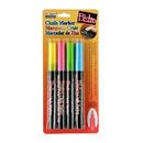 Uchida Of America UCH4824A Bistro Chalk Markers Fine Tip 4 Clr - Set Fluorescent Pnk Blu Grn Ylw