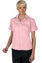 Edwards Garment 5245 Poplin Shirt - Women's Open Neck Blouse (Short Sleeve)