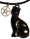 AzureGreen ABLACP Black Cat & Pentagram