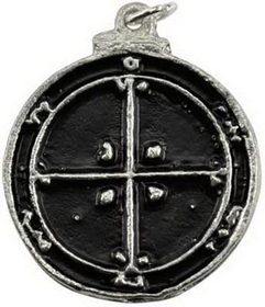 AzureGreen Fourth Pentacle of Mars Amulet