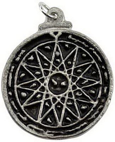AzureGreen Fourth Pentacle of Mercury Amulet