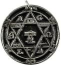 AzureGreen AHEXG5 Hexagram of Solomon