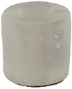 AzureGreen CHTWSR White Selenite tealight holder