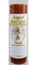 AzureGreen CP17WE Wealth Pillar Candle with Fairy Dust