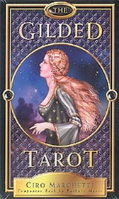 AzureGreen Gilded Tarot (deck and book)  by Marchetti/ Moore
