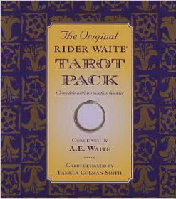 AzureGreen Rider-Waite deck & book by A.E. Waite