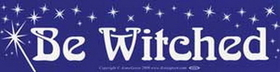 AzureGreen Be Witched bumper sticker