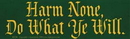 AzureGreen EBHAR Harm None, Do What Ye Will