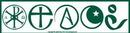AzureGreen EBPEA Peace Bumper Sticker