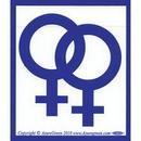 AzureGreen EBSFF Female/Female Bumper Sticker