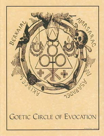 AzureGreen Goetic Circle poster