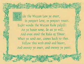 AzureGreen Wiccan Rede (law) poster