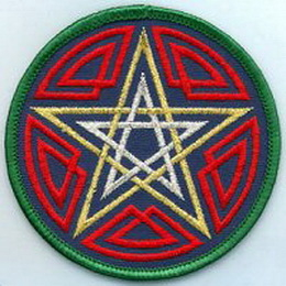 AzureGreen ESCEL Celtic Pentagram patch 3""