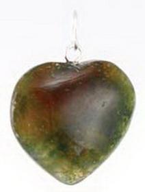 AzureGreen Heart Pendant Various Stones
