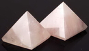 AzureGreen GPYR 25-30mm Rose Quartz pyramid