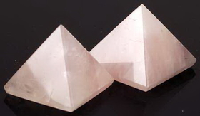 AzureGreen Small Rose Quartz Pyramid 25 to 30mm