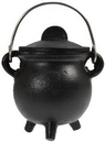 AzureGreen ICBR86 Plain cast iron cauldron w/ lid 3
