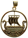 AzureGreen JB299 Viking Ship bronze