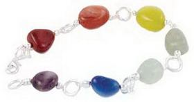 AzureGreen 7 Chakra Gemstone bracelet