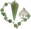 AzureGreen JBPGAV Green Aventurine pendulum bracelet
