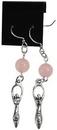 AzureGreen JEGRQZ Rose Quartz Goddess earrings