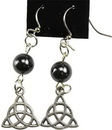 AzureGreen JERHEM Hematite Triquetra earrings