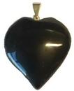 """AzureGreen JHBT 1"""" Black Tourmaline heart"""