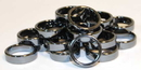 AzureGreen JRH116 6mm Flat Hematite Rings (20/bag)