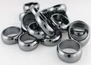 AzureGreen JRH43A 6mm Rounded Hematite Rings 20/bag