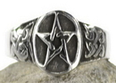 AzureGreen JRP3148 Pentagram Ring size 8