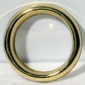 AzureGreen Brass Oil Ring